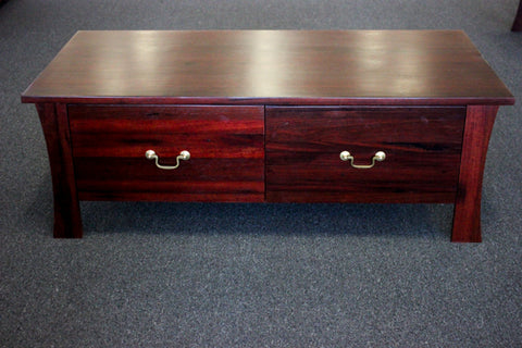 York Jarrah 2 Drawer Coffee Table