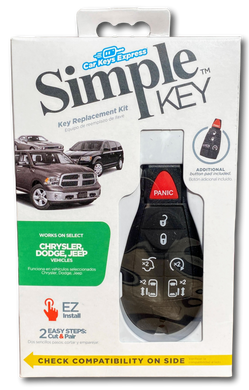 Chrysler, Dodge, Jeep and Volkswagen Simple Key Programmer for Smart Key Fob (CDFO-E7RHZ0SK-KIT)