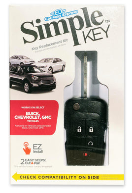 GM Simple Key 4 Button Flip Key with Remote Start (GMFK4RSSK-KIT)