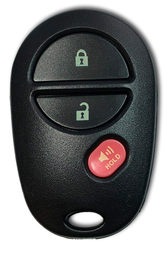 3 Button Keyless Entry Remote Car Key FOB for Select Toyota Vehicles (GQ43VT20T-3B)