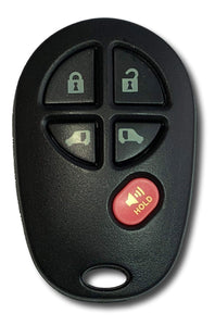 5 Button Keyless Entry Remote Car Key FOB for Toyota Sienna Vans (GQ43VT20T-5B)