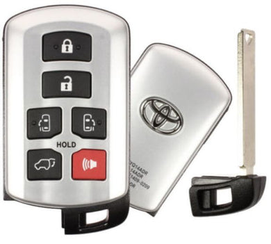 Toyota LOGO Sienna Smart Proximity Key, Push Button Start Keyless Remote FOB with Emergency Key (HYQ14ADR-6B-FOB-LOGO)