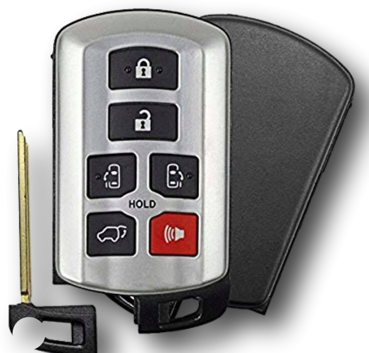 Toyota Sienna Smart Proximity Key, Push Button Start Keyless Remote FOB with Emergency Key (HYQ14ADR-6B-FOB)