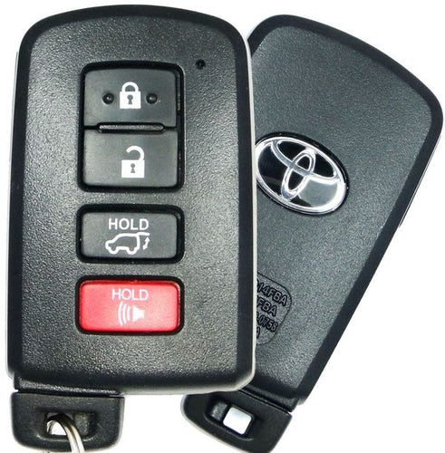 Toyota LOGO Highlander Smart Proximity Key, Push Button Start Keyless Remote FOB with Emergency Key (HYQ14FBA-4B-FOB-LOGO)