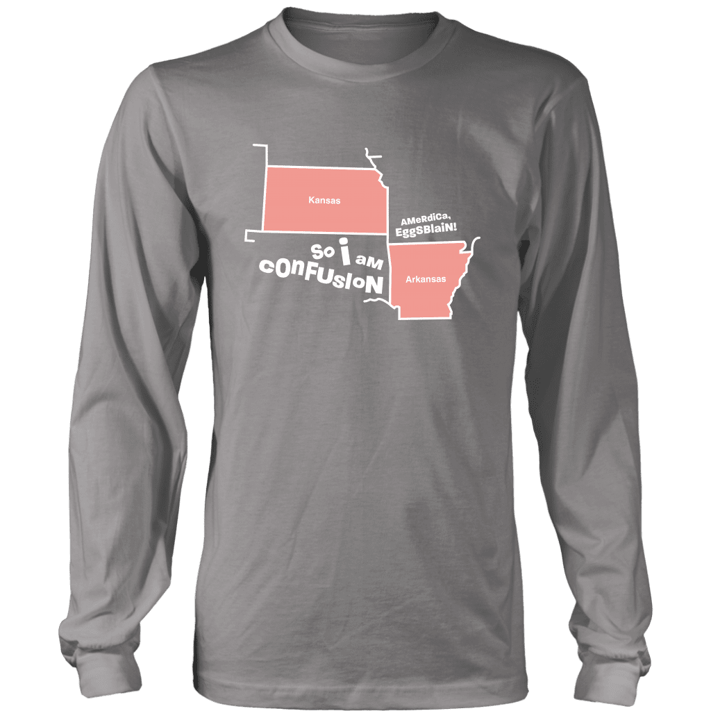 CONFUSION | Long Sleeve Shirt - i am confusion the sadia arabia kansas arkansas dank meme memes funny reddit instagram tiktok vine youtube tee navy