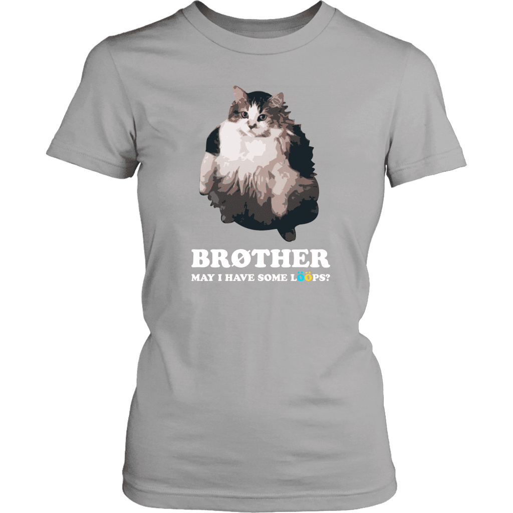 LÖÖPS | Womens Tee - brother cat froot fruit want loops loops may I have dank meme memes funny reddit instagram tiktok vine youtube shirt black