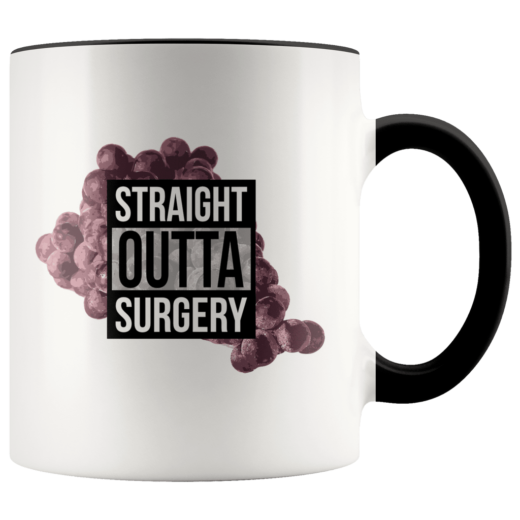 STRAIGHT OUTTA SURGERY | 11oz Accent Mug - Meme-Based Apparel & Merch by Dank Swankitude - Shirts, Hats, Mugs, Pillows, & More