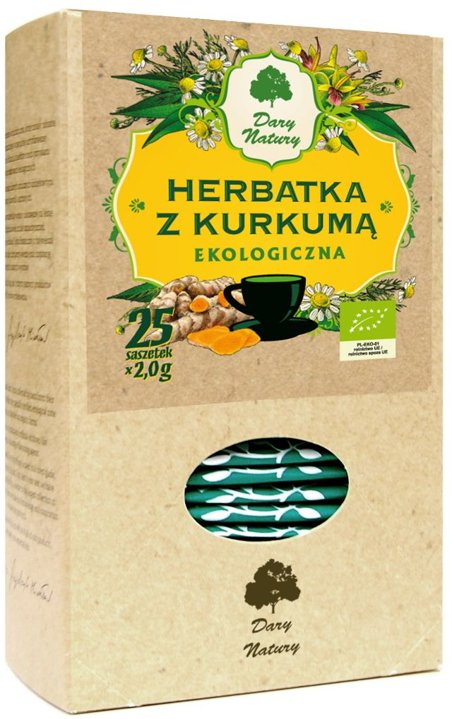 Tēja ar kurkumu, BIO, (25 X 2 G) - GIFTS OF NATURE