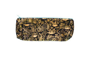 Pencil Pouch - Metallic Wonderland Map