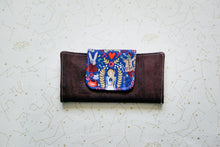 Load image into Gallery viewer, Cork Wallet - Blue Alice on Dark Brown