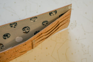 Bifold Wallet - Girlies on Gold-Flecked Cork
