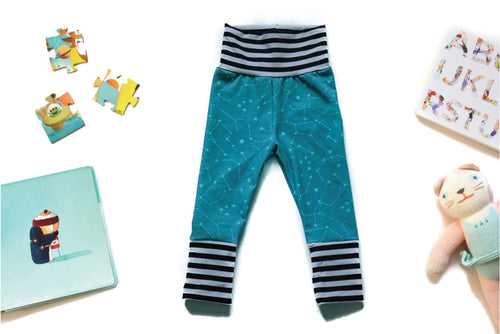Grow With Me Pants - Constellation Teal