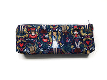 Load image into Gallery viewer, Pencil Pouch - Navy Alice in Wonderland