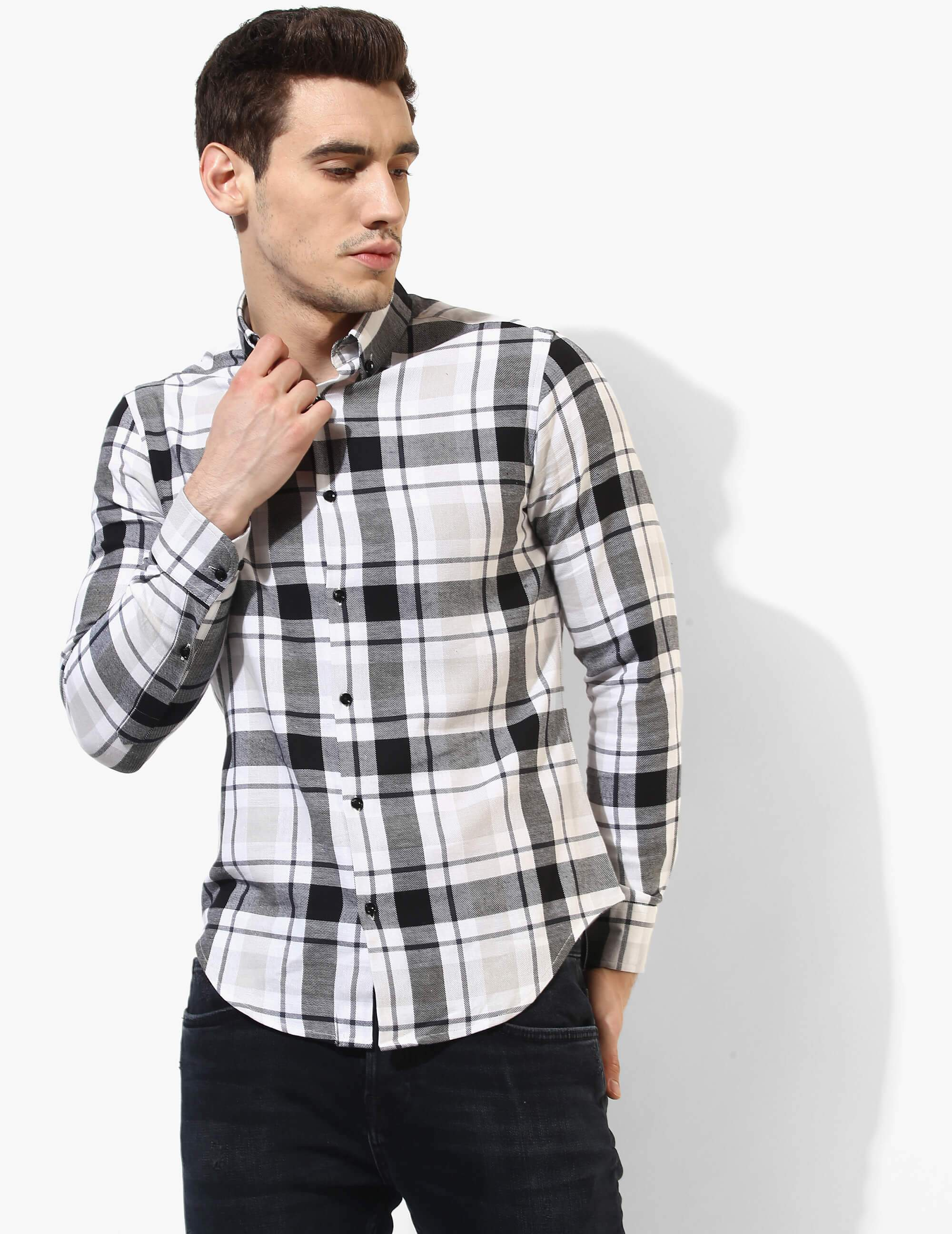 Immaculate Black & White Flannel Shirt