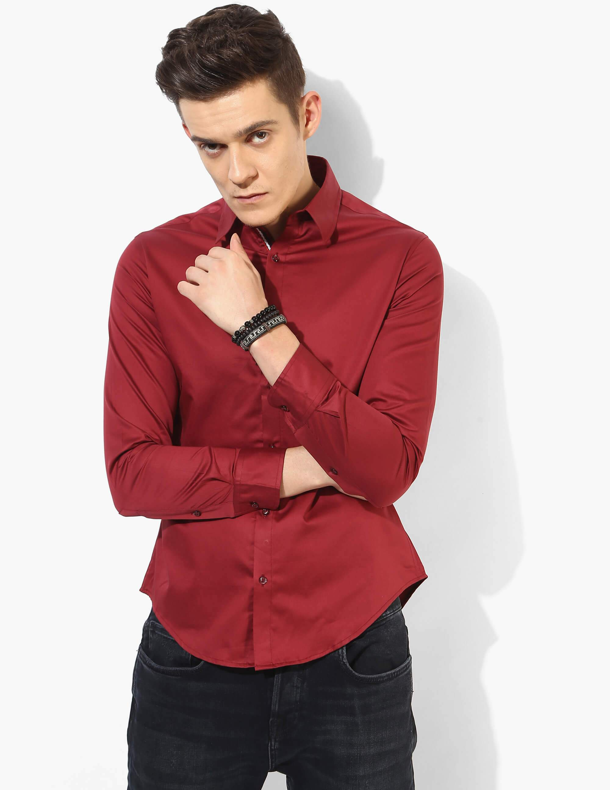 Refined Red Solid Shirt