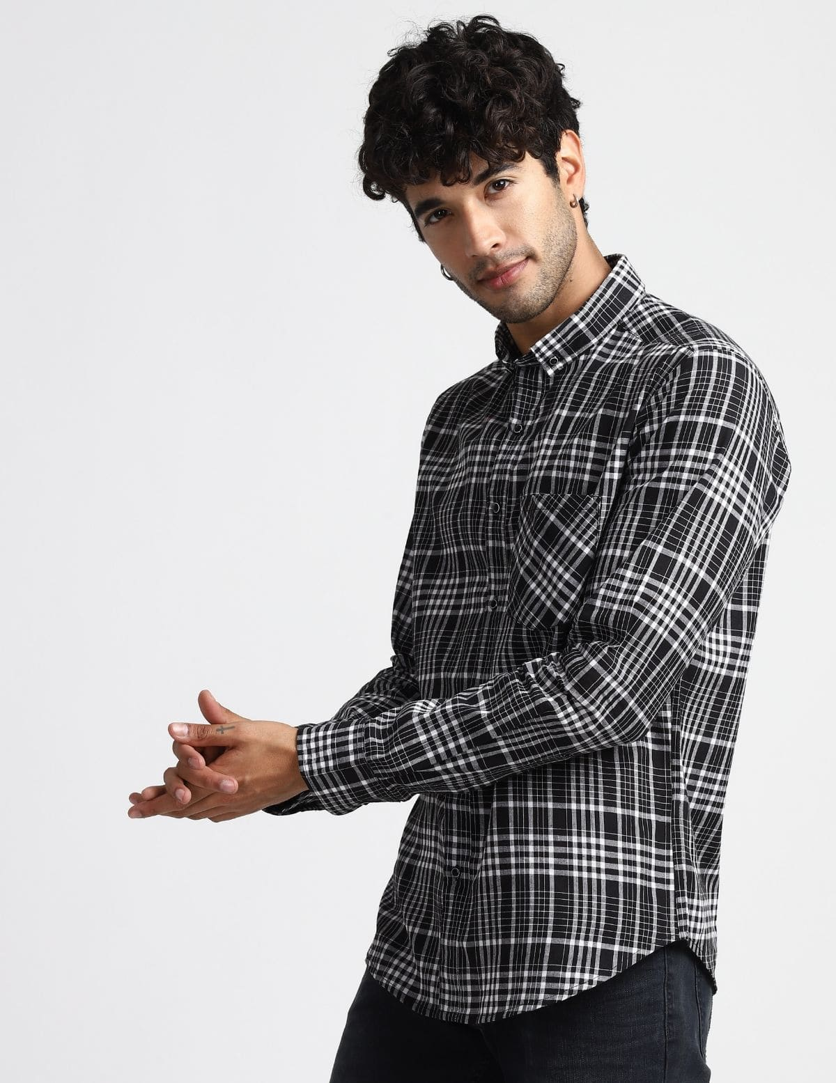 Madras Royal Black Check