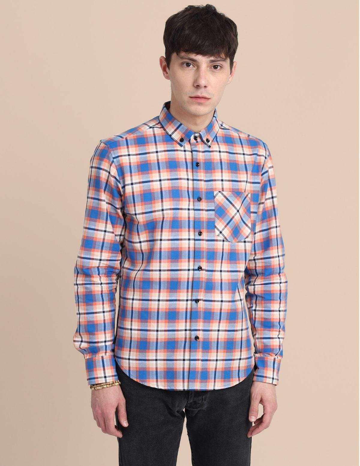Cross Pocket Multi-Colour Shirt