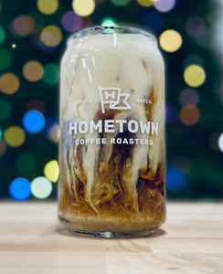 Hometown Beer Can Glass