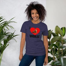 Load image into Gallery viewer, Sharing the Doodle Love is Simple... Get your T-Shirt that expresses your Love for your Doodle Now and share the Love. Let's Go show off and strike up conversations about your Doodle will be easy with These Amazing T-Shirts.  Our T-Shirts are printed right here in the United States and are available in various sizes. These T-Shirts are Personally made and designed with you in mind. This T-Shirt is everything you've dreamed of and more.