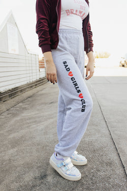 Sad Girls Club Sweatpants Grey