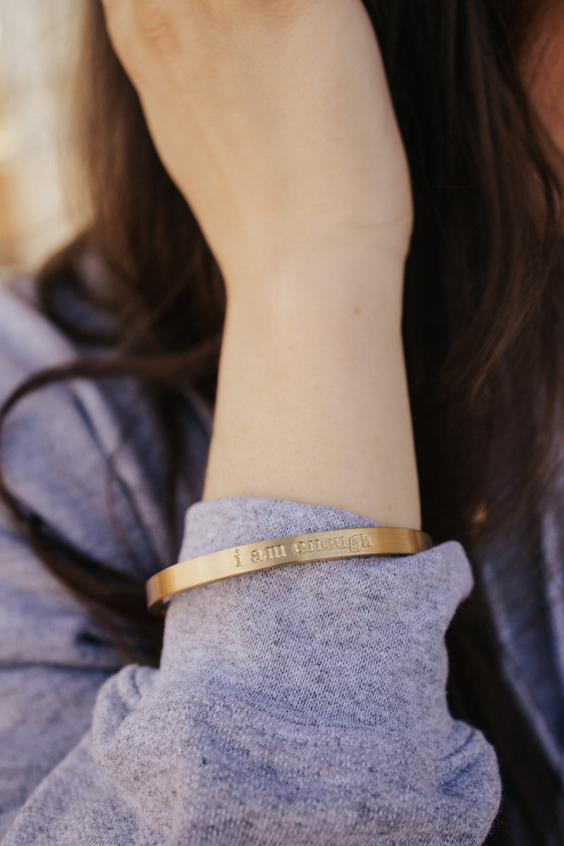 I Am Enough Bracelet In Gold