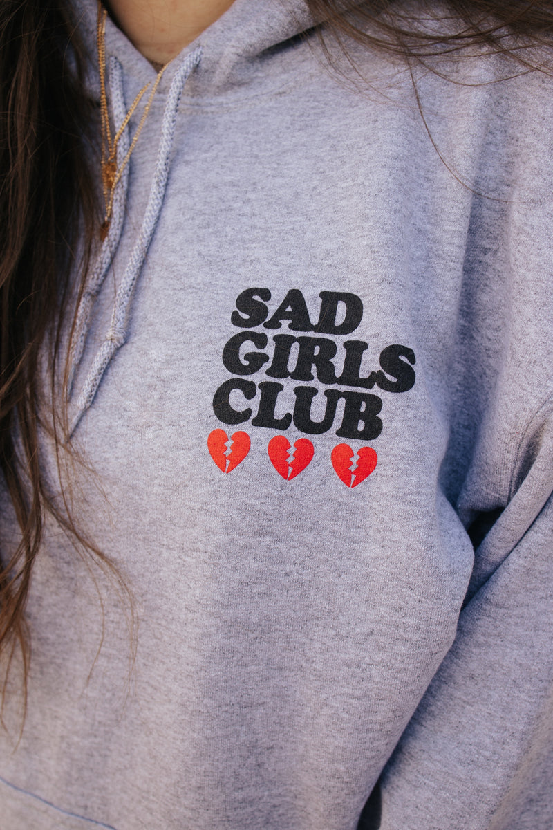 Sad Girls Club Grey Hoodie