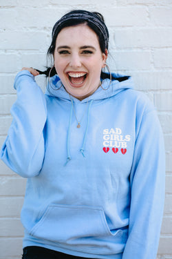 Sad Girls Club Hoodie-Daydream Blue