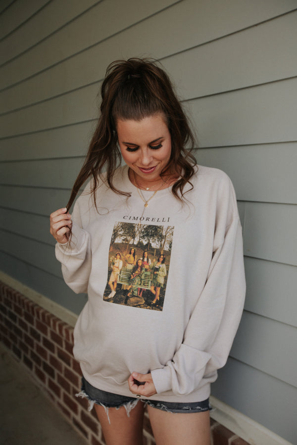 Storybook Crewneck In Sand