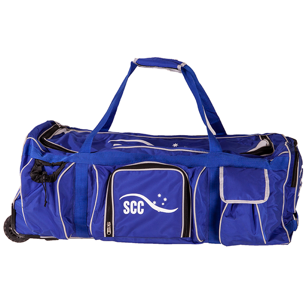 SCC Academy Wheelie Cricket Bag - Blue