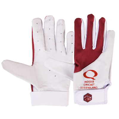 SCC QLD Slim Fit Indoor Cricket Glove-Maroon