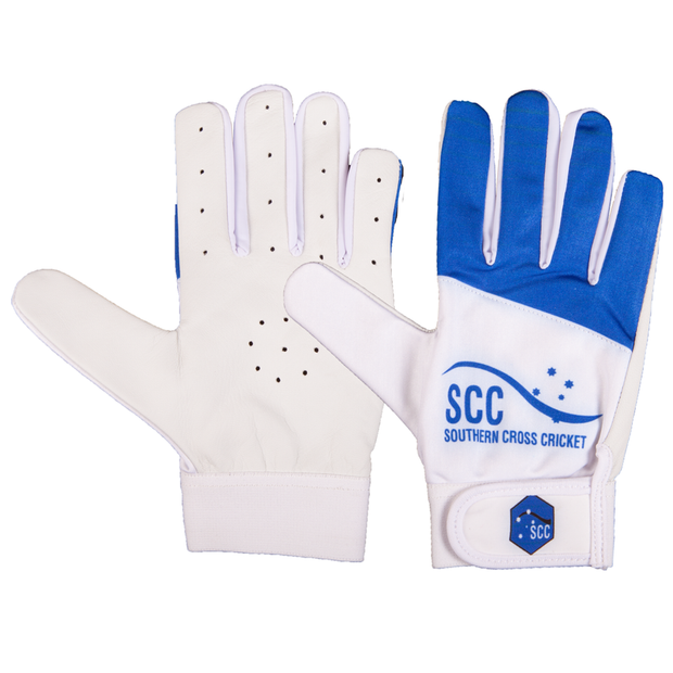 SCC Tyrant Slim Fit Indoor Cricket Glove-Blue - Southern Cross Cricket