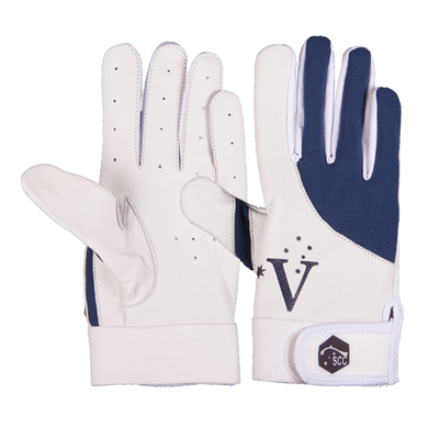 SCC VIC Slim Fit Indoor Cricket Glove-Navy