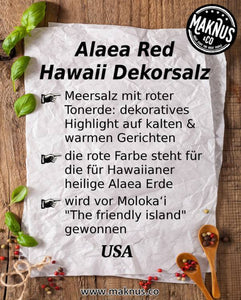 Alaea Red Hawaii Salz Infoblatt