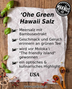 Ohe Green Hawaii Salz Infoblatt