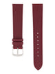 Handmade German Di-Modell Derby Burgundy Steel-colored Buckle Front
