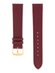 Handmade German Di-Modell Derby Burgundy Gold-colored Buckle Front