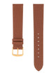 Handmade German Di-Modell Derby Medium Brown Gold-colored Buckle Front