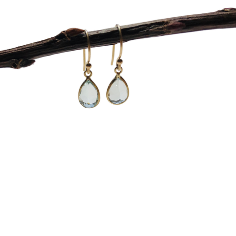 14k Aquamarine Earrings