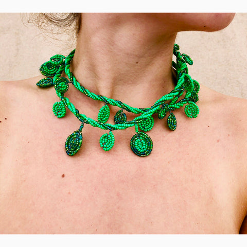 Medusa Green Necklace