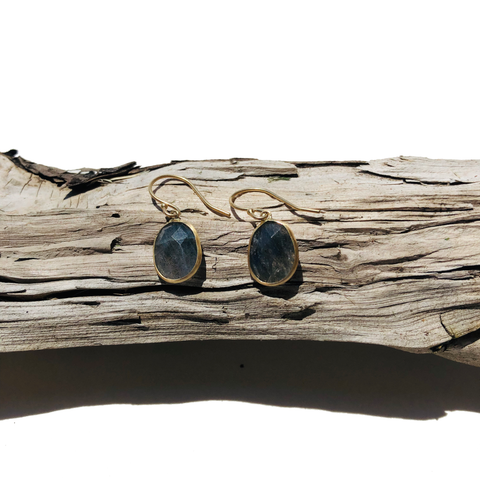 14k Labradorite Earrings