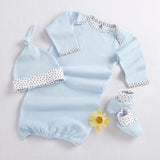 """Welcome Home Baby!"" 3-Piece Layette Set (Blue) (Personalization Available)"