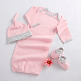 """Welcome Home Baby!"" 3-Piece Layette Set in Keepsake Gift Box (Pink) (Personalization Available)"
