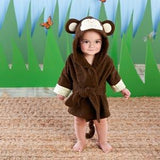"""Born to be Wild"" Monkey Hooded Spa Robe (Personalization Available)"