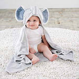 Little Peanut Elephant Hooded Blanket