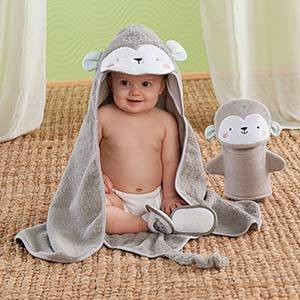 Monkey 3-Piece Bath Set
