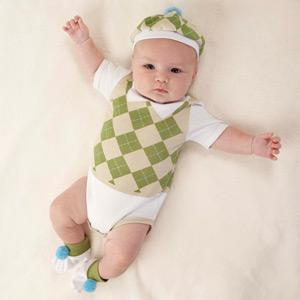 """Sweet Tee"" 3-Piece Golf Layette Set in Golf Cart Packaging"