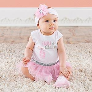 My First Ballerina 3-Piece Tutu Outfit (0-6 mos)
