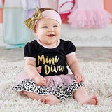 My First Fashionista Outfit with Headband (0-6 mos)