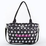 360 Signature Diaper Bag - Black and White Floral