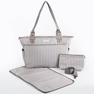 360 Signature Diaper Bag - Gray Chevron